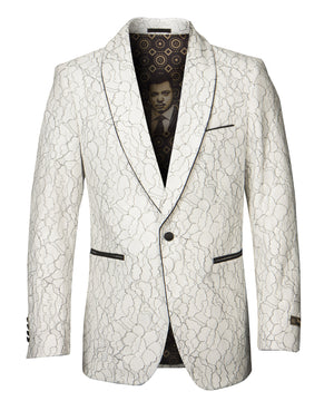 White Empire Show Blazers Formal Dinner Suit Jackets For Men ME277H-01