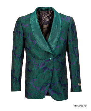 Green Empire Show Blazers Formal Dinner Suit Jackets For Men ME316H-02
