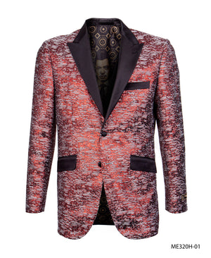Red/Black Empire Show Blazers Formal Dinner Suit Jackets For Men ME320H-01