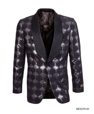 Black Empire Show Blazers Formal Dinner Suit Jackets For Men ME327H-01