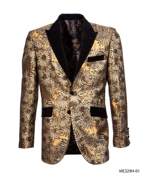 Gold/Black Empire Show Blazers Formal Dinner Suit Jackets For Men ME329H-01