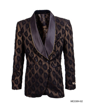 Black/Gold Empire Show Blazers Formal Dinner Suit Jackets For Men ME330H-02