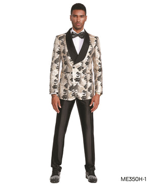 Cream Empire Show Blazers Formal Dinner Suit Jackets For Men ME350H-01