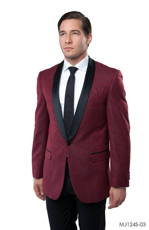 Burgundy Jackets For Men Jacket Suits For All Ocassions MJ124S-03