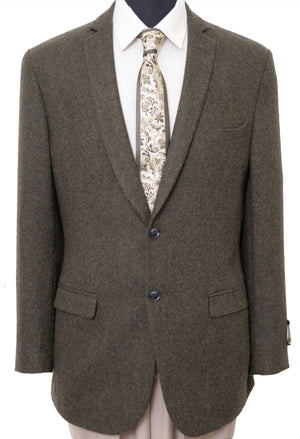 Mens Wool Two Button Solid Notch Lapel Sports Coat Blazer Jacket