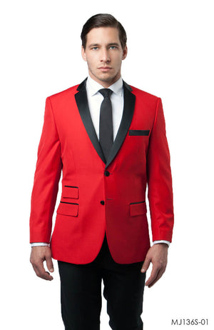 Red Jackets For Men Jacket Suits For All Ocassions MJ136S-01
