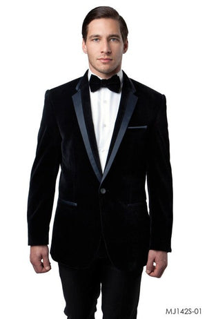 Black Jackets For Men Jacket Suits For All Ocassions MJ142S-01