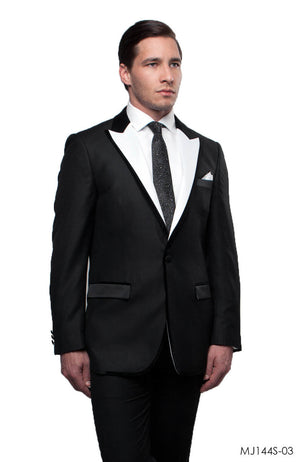 Black / White Jackets For Men Jacket Suits For All Ocassions MJ144S-03