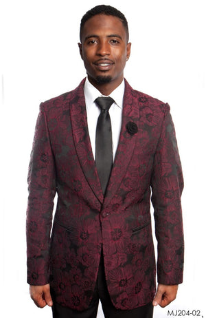 Wine / Black Jackets For Men Jacket Suits For All Ocassions MJ204-02