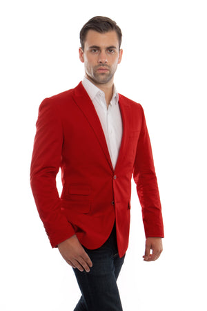 Slim Fit Solid High Peak Lapel Casual Sports coat Blazer Jacket For Men