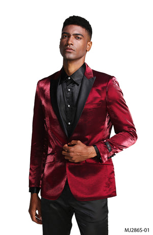 Red Wine Tazio Sports Coat Dinner Jackets