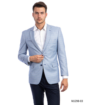 Blue / Gray Blue Tazio Sports Coat Dinner Jackets