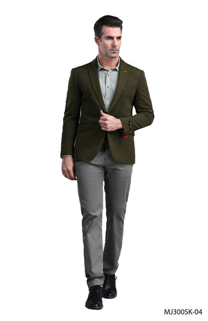 Olive Tazio Sports Coat Dinner Jackets