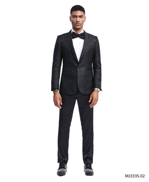 Black Tazio Sports Coat Dinner Jackets