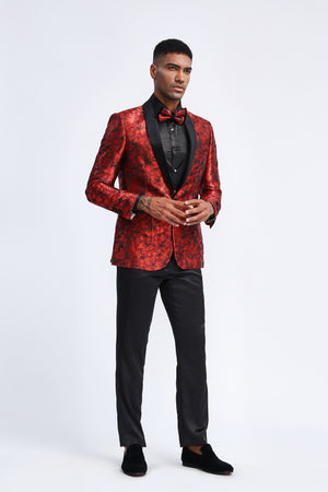Red/Black Tazio Sports Coat Dinner Jackets