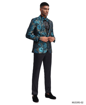 Turquoise Tazio Sports Coat Dinner Jackets