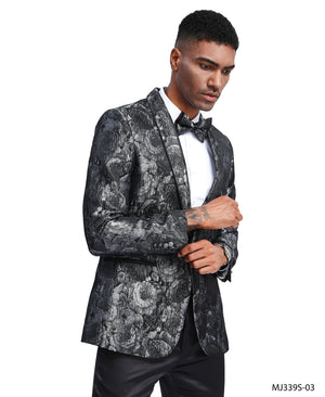 Silver Tazio Sports Coat Dinner Jackets