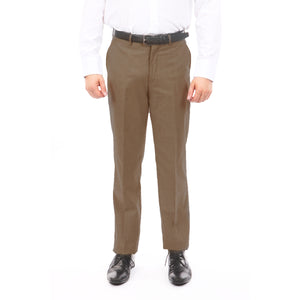 Tazio Brown Slim Fit Stretch Dress Pants For Men