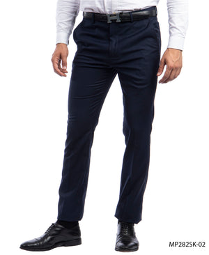 Sean Alexander Navy Performance Stretch Dress Pants For Men