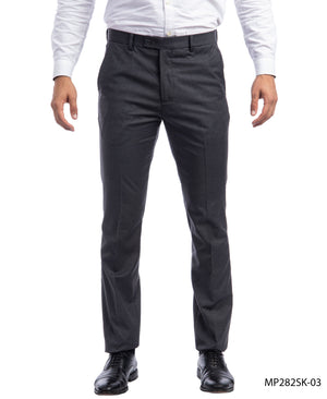 Sean Alexander Charcoal Performance Stretch Dress Pants For Men