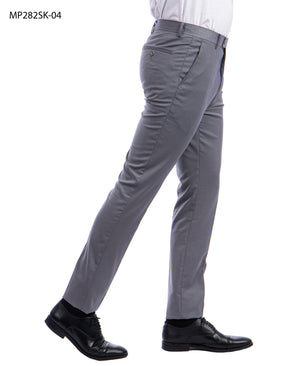 Sean Alexander Grey Performance Stretch Dress Pants For Men