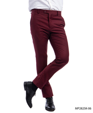 Sean Alexander Burgundy Performance Stretch Dress Pants For Men