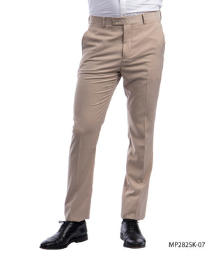 Sean Alexander Mid Tan Performance Stretch Dress Pants For Men