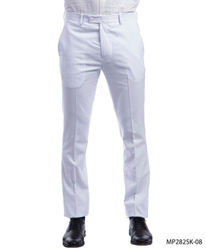 Sean Alexander White Performance Stretch Dress Pants For Men