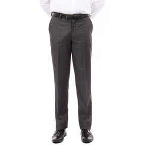 Demantie Dk Grey Performance Stretch Wool Dress Pants For Men
