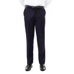 Demantie Navy Performance Stretch Wool Dress Pants For Men