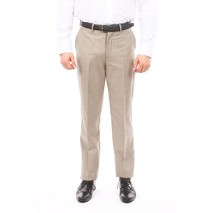 Demantie Tan Performance Stretch Wool Dress Pants For Men