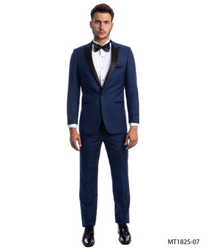 Cobalt/Black Tuxedo Suit For Men Formal Tuxedos For All Ocassions MT182S-07