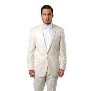 Satin Peak Lapel With Trim Tuxedo Solid Slim Fit Prom Tuxedos For Men