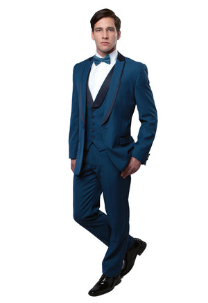 Shawl Collar Trim/ Peak Lapel Tuxedo Solid Slim Fit Prom Tuxedos For Men