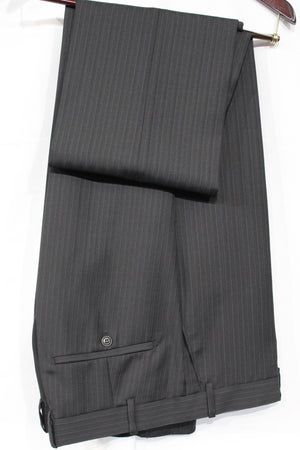 Grey Pinstripe Suit For Men Wool Suits For All Ocassions MW110