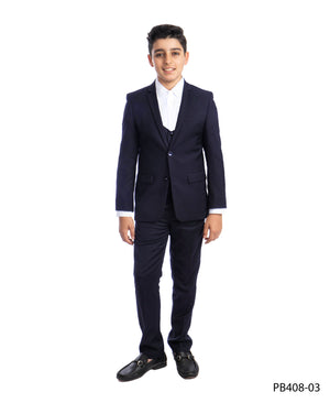 Navy 3 Piece Perry Ellis Suits For Boys PB408-03