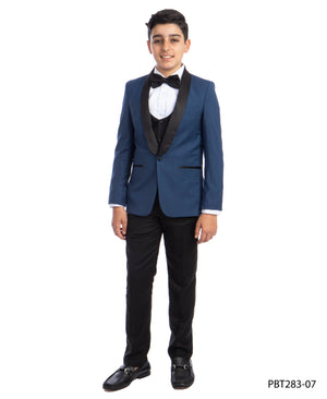 Perry Ellis Boys Tuxedo  Indigo Blue  Shawl Collar Tuxedos For Boys