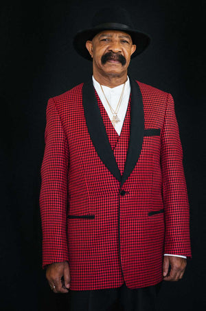 Dennis Graham Collection Red Check Tuxedo