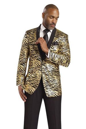 Dennis Graham Collection Zebra Gold Black Tuxedo