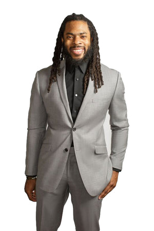 Cool Grey Two Piece Suit - RSPCT By Richard Sherman