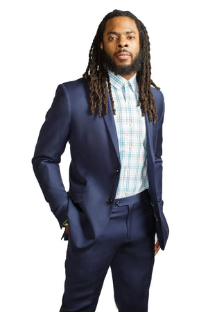 RSPCT - Seattle Blue 100% Wool Two Piece Suit