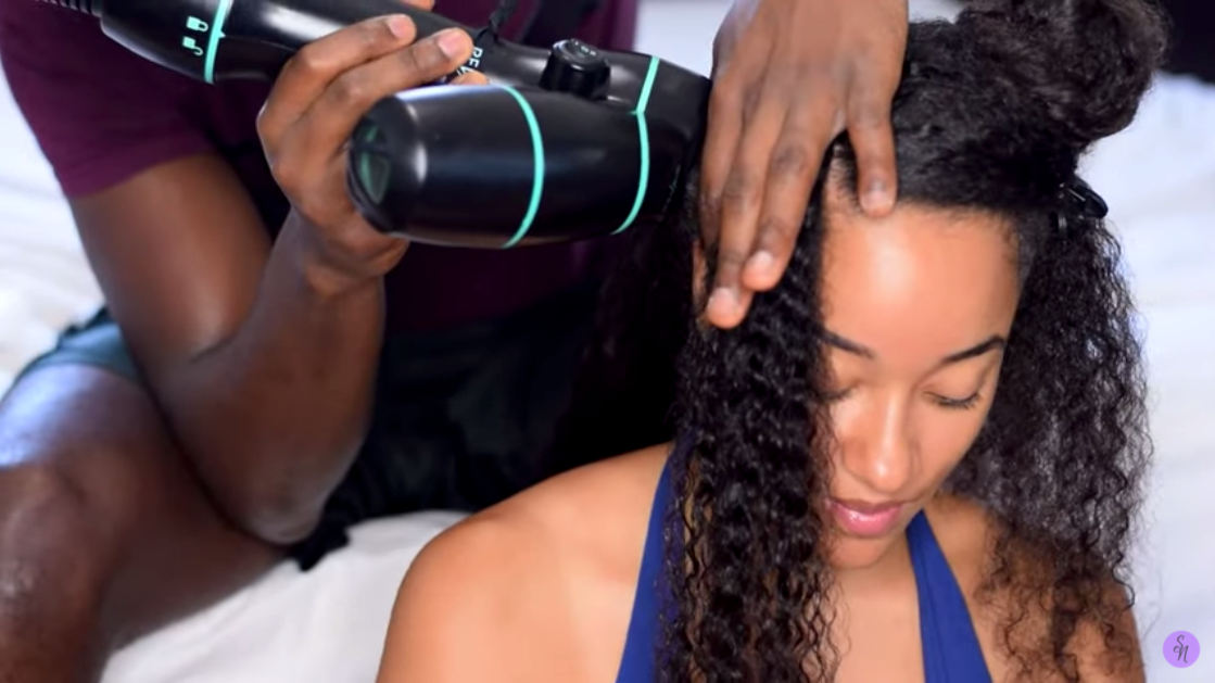 Boyfriend Does BLOW-OUT TWISTS on Natural Hair!