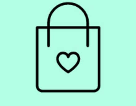 bag with heart icon