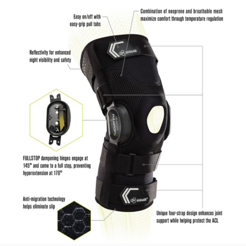 DonJoy Performance Bionic Fullstop Knee Brace Specifications