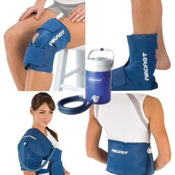 Purchase Aircast Cryo Cuff Cooler + Compression Wraps, a portable cold-water compression therapy system that helps minimize inflammation, swelling and joint pain for at-home compression therapy.