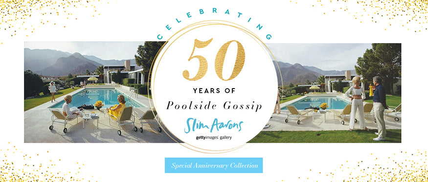 "Celebrating the 50th anniversary of Slim Aarons' ""Poolside Gossip"""