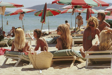 Saint-Tropez Topless Beach by Slim Aarons - FINEPRINT co