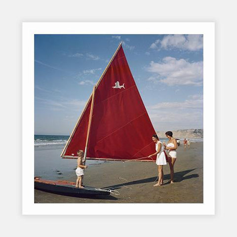 Sailboat In San Diego by Slim Aarons - FINEPRINT co