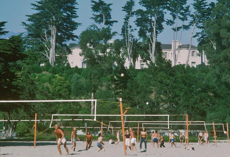 Volleyball In Santa Barbara by Slim Aarons - FINEPRINT co