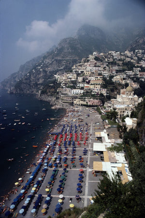 Beach At Positano-Slim Aarons-Fine art print from FINEPRINT co